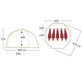 【送料無料】テント ヘルスポート バランゲルドーム フロア Helsport Varanger Dome floor〔4-6人用〕